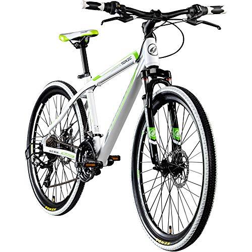 Galano 26 Zoll Toxic Mountainbike Hardtail MTB Jugendmountainbike Jugendfahrrad (weiß/grün/schwarz, 46 cm)