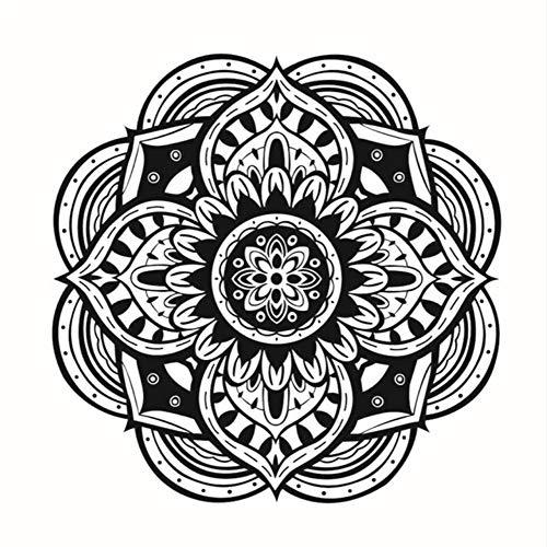 Lglays Mandalas - Adhesivo decorativo para pared de yoga, diseño de indio, impermeable, vinilo para decoración del hogar, extraíble, 44 x 44 cm