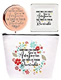 Thank You Gifts for Women,You're Awesome Gifts for Women,Cheer Up Gifts for Her, You are Awesome Makeup Bag,You are Awesome Trinket Dish,You're Awesome Gifts Compact Mirror, Thank you Makeup Mirror