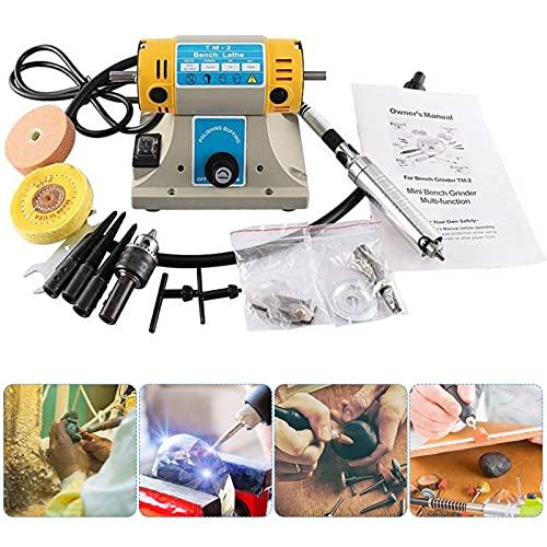 InLoveArts, amoladora, pulidora, kit de herramientas, 350W, 220V, 10000r/min, máquina pulidora de torno de banco, multifuncional para carpintería, corte de jade para pulido manual de piedras de metal