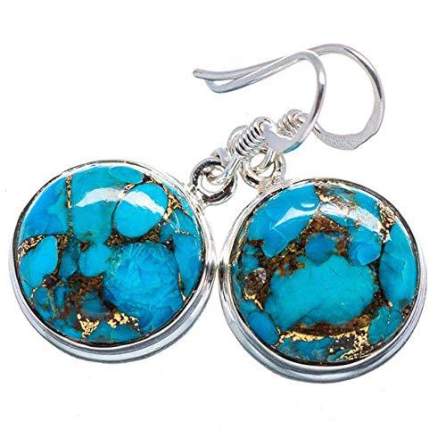 LPOQW Pendientes de mujer azul turquesa redondo pendientes de piercing clásicos de lujo dulce lindo pendientes niña joyería regalos