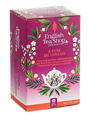 """English Tea Shop """"Isola di Ceylon"""" Collezione Tè e Tisane Assortite in 5 Miscele Made in Sri Lanka - 1 x 20 Bustine di Tè (39 Grammi)"""