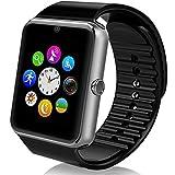 Smartwatch Bluetooth, MallTEK Smart Watch 1.54'' mit SIM/TF Karten Slot Smartwatch Mit Whatsapp Facebook Kamera Schrittzähler Sleep Monitor Smart Watch Uhr für Android Smartphone