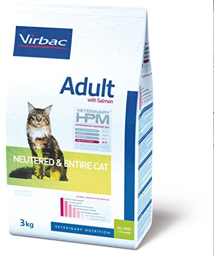 Virbac Veterinary HPM Adult Neutered & Entire Cat Saumon 1.5 kg