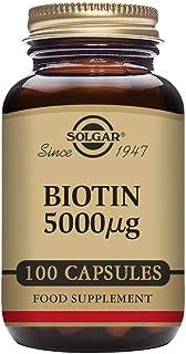 Solgar Biotin 5000 mcg, 100 Capsules