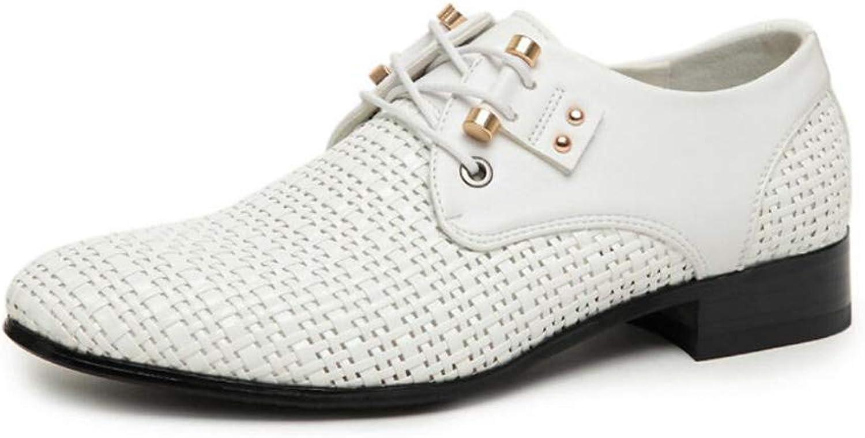 Mans Business skor, 2018 ny Springaa sommar Hollow Pointed läder skor {65533;65533;; Lace up Comfort Casual skor 65533;; Party & Evening (färg  B, Storlek  40)