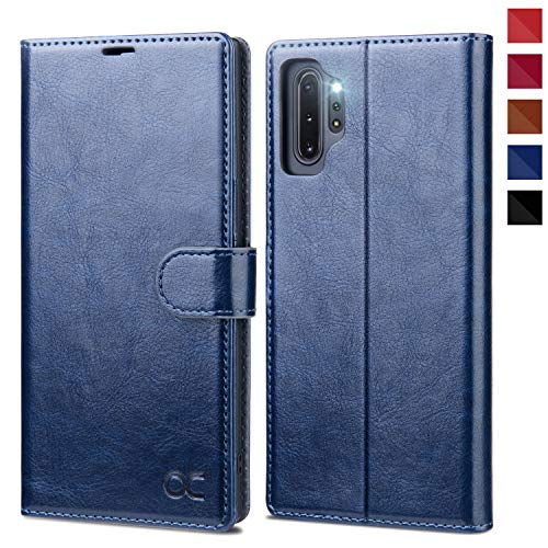 OCASE Galaxy Note 10 Plus Wallet Case, Note 10 Plus 5G Leather Flip Case with Card Holder Kickstand and Magnetic Closure, TPU Shockproof Phone Cover for Samsung Galaxy Note10 Plus 6.8 Inch (Blue)