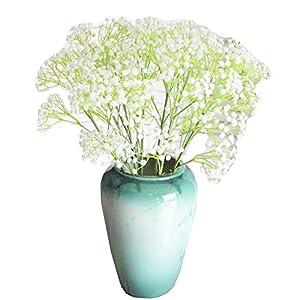Silk Flower Arrangements George Jimmy Flower Arrangement Wedding Bouquet Artificial Flowers -8 PCS Baby Breath 01