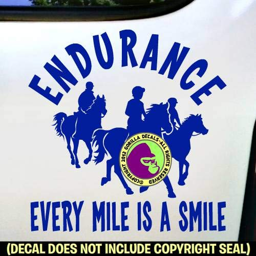 I LOVE ENDURANCE RIDING Horse Rider Vinyl Decal Sticker E