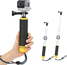 2 in 1 Floating Hand Grip Waterproof Telescopic Pole, Number-One Waterproof Selfie Stick Adjustable Extension Monopod Pole for GoPro Hero 7/6/5/4/3+/3/2/1 with Cradle for WiFi Remote