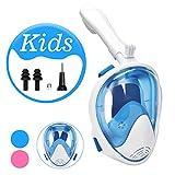 QKURT Pieghevole Maschera Subacquea, Maschera da Snorkeling Vista a 180°Gradi con Supporto per autocamere Rimovibile e Design Facile Respirare per i Bambini