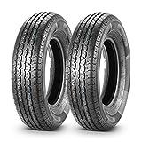 2 Pcs Radial Trailer Tires ST 205/75R15 205-75R15 8PR/Load Range D 107/102L