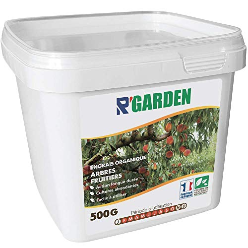 R Garden - Fertilizzante organico per alberi fruttieri, fertilizzante ecologico, nutrimento in profondità, facile da usare, 500 g