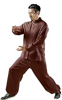 KSUA Mens Tai Chi Uniform Chinese Kung Fu Clothing Cotton for Martial Arts Zen