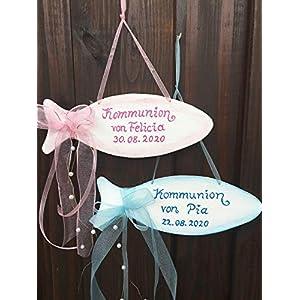 Fisch, Türschild zur Kommunion/Konfirmation/Taufe