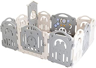 Relaxbx Baby Fence Castle Baby And Newborn Fence Home Indoor Outdoor Fence Baby Playground Room Separator Child Safety Bar