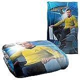 "Star Trek Captains Chair Silky Touch Super Soft Throw Blanket 36"" x 58"""
