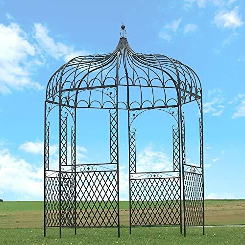 chemin_de_campagne Gloriette - Gazebo in ferro da giardino, ø 200 cm, colore: Marrone