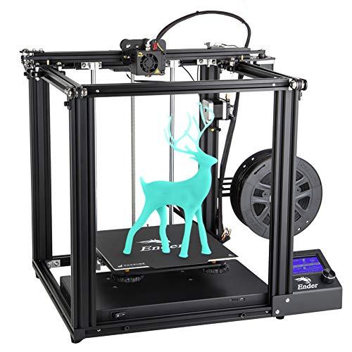 Creality Ender 5 Impresora 3D con Función de Impresión de Currículum y Fuente de Alimentación de Marca