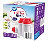 Great Value Gr Val Superior Pitcher Cartridge 4-pk Fits Brita, PUR, Culligan, GE and DuPont pitchers