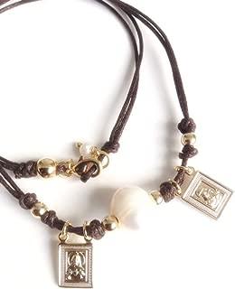 Escapularios Catolicos Handmade Brown Scapular Choker Necklace