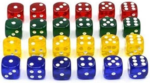 lowest Malloufsa 24PCS/Pack 4 Colors 16mm Plastic Dice for outlet online sale Poker Card Dice online sale Games online sale
