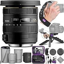 Sigma 10-20mm f/3.5 EX DC HSM ELD SLD Wide-Angle Lens for Nikon DSLR Cameras with Altura Photo Essential Accessory Bundle