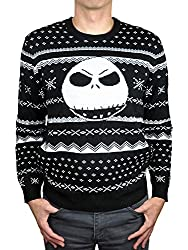 Nightmare Before Christmas Sweater with snowflakes and Jack Skellington