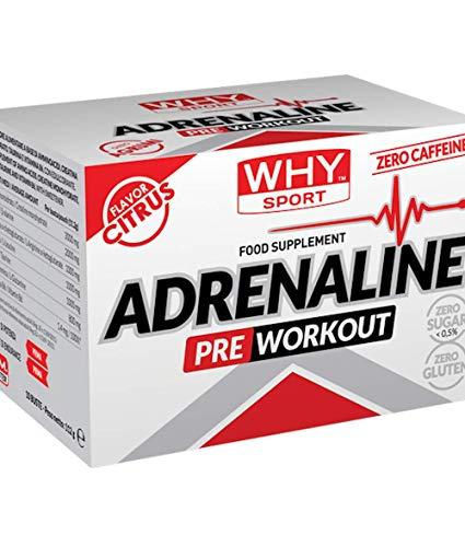 WHY SPORT Adrenaline 10 Bustine - Aminoacidi, Creatina, Taurina e Vitamina B6