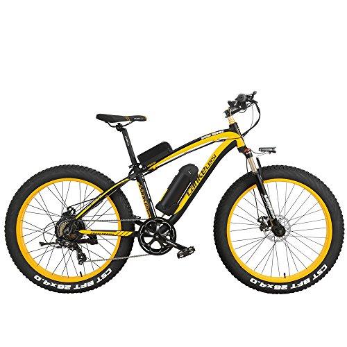 LANKELEISI XF4000 26 Pulgadas Bicicleta de montaña eléctrica 4.0 Nieve Bicicleta 1000W/500W energía Fuerte 48V batería de Litio 7 Velocidad...