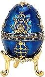 YRHH Vintage Schmuckschatulle Eiform Schmuckkästchen Einzigartige Geschenkbox Europäischen Stil Halskette Ohrringe Ring Aufbewahrungsbox Desktop Ornamente