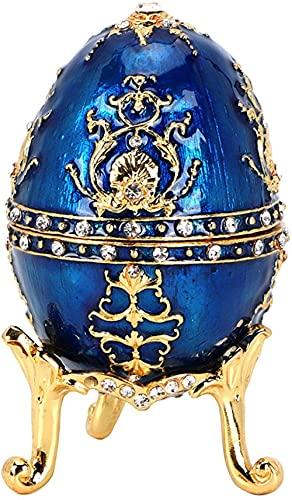 YRHH Vintage Schmuckschatulle Eiform Schmuckkästchen Einzigartige Geschenkbox Europäischen Stil Halskette Ohrringe Ring Aufbewahrungsbox...