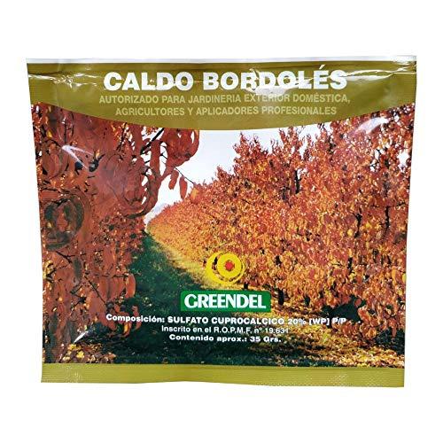 Caldo Bordelés Fitosanitario Fungicida y Bactericida para Agricultura y Jardinería Exterior Doméstica, 35 gr