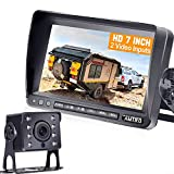 Backup Camera for Truck AMTIFO A13 HD RV Backup Camera with 7 Inch Monitor Wire Kit Support 2nd License Plate Camera 30 Mins DIY Easy Installation