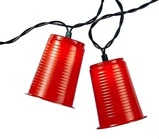 Kurt Adler UL1882 UL 10-Light Party Cup Light Set, Red