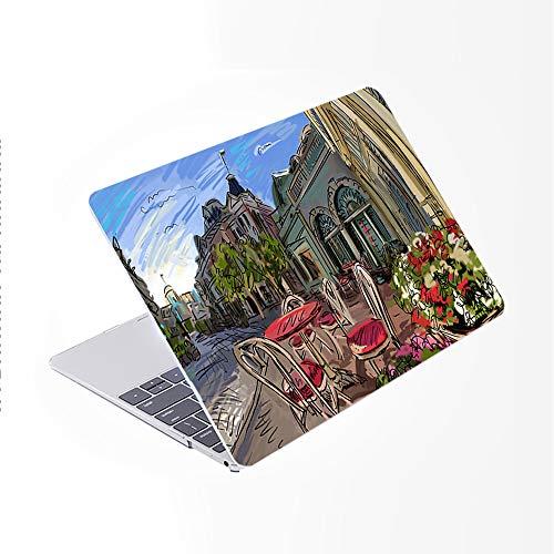 SDH Funda para MacBook Pro de 16 pulgadas 2019 lanzamiento A2141, ordenador portátil y cubierta de teclado para Mac Pro 16 pulgadas Retina Touch Bar e ID 4 en 1 paquete, pintura ciudad 12
