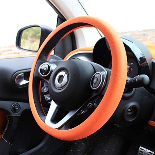 wuwenjun Silicone steering wheel cover wear-resistant anti-skid auto parts for Mercedes Smart Forfour Fortwo 453 451 450