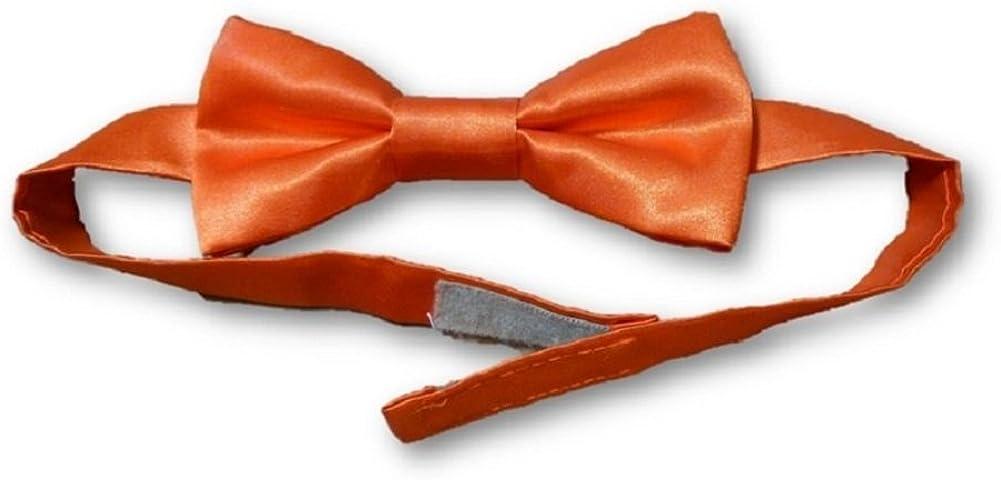 Mens Blaze Orange Bow Tie Satin with Vel-cro Closure for Mossy Oak Prom Wedding Matches Camo Bow Tie Bowtie