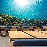 Papel tapiz tridimensional del mundo submarino en 3D, fondo de estilo oceánico, revestimiento de paredes, decoración de la pared de la habitación del tema del hotel del hotel-250X175cm