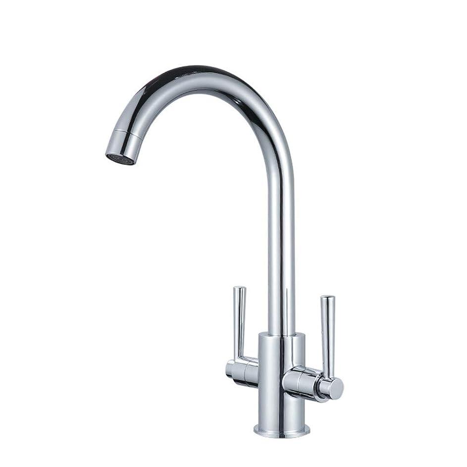 彼は閉じる光電360度回転の蛇口の真鍮の台所の蛇口ベンド角度冷温水ミキサーダブルハンドル水の浄化ステンレスミキサー蛇口