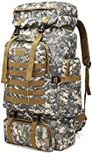 Moomen 75L Outdoor Mountaineering Bag Large Capacity Waterproof Camouflage Backpack for Hiking Camping Fishing Traveling