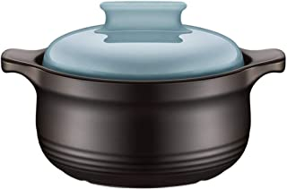 Cazuela Para Horno Cazuelas De Barro Nueva Olla De Salud De CeráMica De Wushuang-azul_2.5L