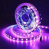 JOYLIT 24V Tiras LED Iluminación Multicolor RGB 300 LEDs SMD5050, 5M IP65 Impermeable Luces LED para Armario, Dormitorio, Muebles, Cocina