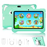 Kids Tablet, Android 9.0 Tablets 7 inch HD IPS Eye Protaction Display, 3GB RAM 32GB ROM, Quad Core Processor, Dual Camera, WiFi, Parental Control, Kid-Proof, Pre-Installed Educational APP (Green)