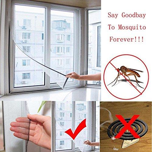 swiftt zanzariera autoadesiva, 130 x 150 cm, zanzariera, zanzariera, finestra con velcro autoadesivo, finestra schermo Mesh Net contro insetti, mosche, zanzare, zanzare, tarme, Nero