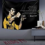 ZTEEG Bruce Lee Tapestry for Bedroom,Tapestry Wall Hanging Fashion Home Decoration Wall Blanket Dorm Party Living Room Bedroom Gift (60x40 inch), Multi