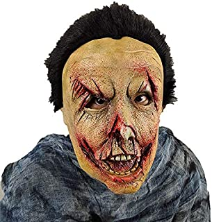 SODIAL Halloween Props Zombie Wigs Latex Horror Wizard Ghost Bloody Mutant Zombie Mask