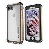 <span class='highlight'>The</span> <span class='highlight'>Fone</span> <span class='highlight'>Stuff</span> Ghostek® Atomic 3 Series iPhone 8, 7 Case, Premium Rugged Shockproof Slim Aluminium Frame Clear TPU Back Dust/Water Proof Cover with Screen Protector – Gold