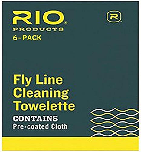 Rio Fly Fishing Fly Line Cleaning Towlette (6 Pack), White