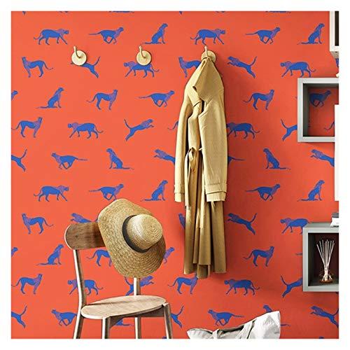 WENYOG Papel De Pared El Modelo Amarillo Azul Rojo Gris del Papel Pintado for Niños habitación Vinilo Dormitorio del Fondo del Sitio de niños Wall Paper Papel De Pared Decorativo